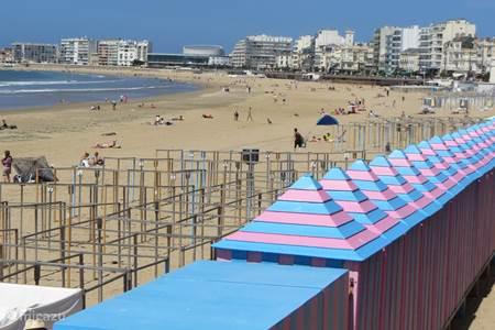 Typerende huisjes aan het strand