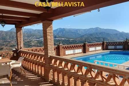Vakantiehuis Spanje, Costa del Sol, Torrox villa Casa BellaVista stunning views