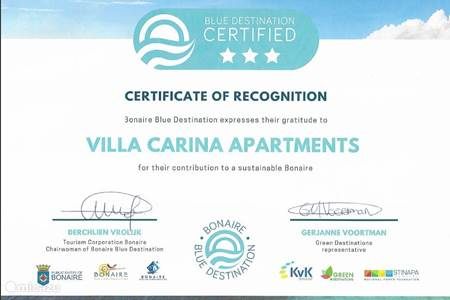 3 stars Blue destination certifcation