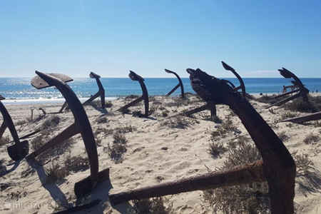 Het ankermonument van Praia do Barril