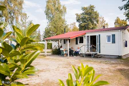 Vakantiehuis Nederland, Limburg, Well chalet Chalet met overdekt terras