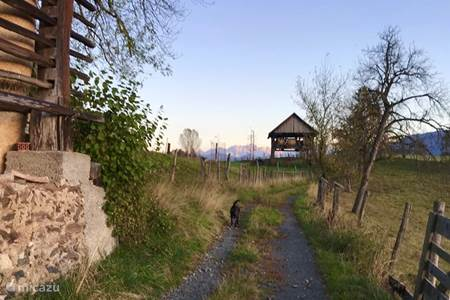 Behind the house, beautiful walking routes with beautiful views