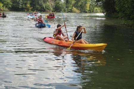 Kanovaren op de rivier de Lot