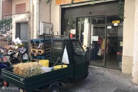Supermarket in the street, Via Trifilo Soldato in Calatabiano