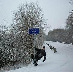 winterbeeld van de chemin du vicinal