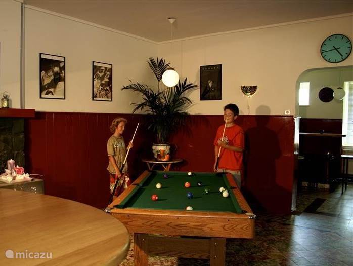especially the kids can not stay away from the pool table in one of the bars!