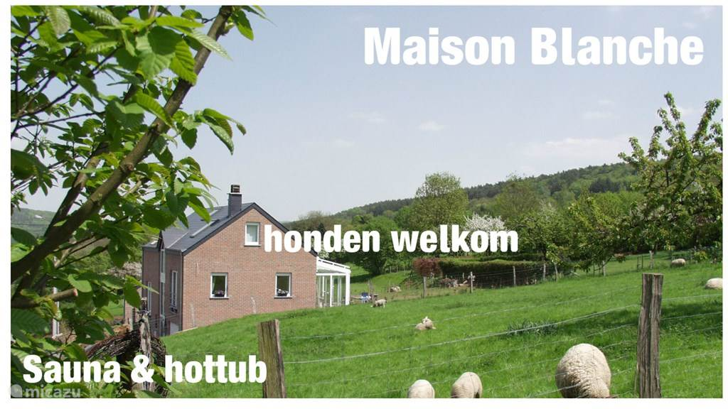 Vacation rental Belgium, Ardennes, Heyd holiday house Maison Blanche