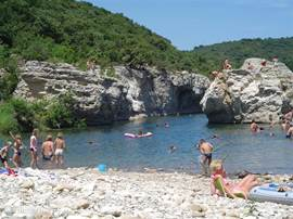 8km from our house you can swim and enjoy on the banks of the Ardèche and Cèze.