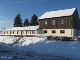 Snowview Lodge met snow op 12.12.2012