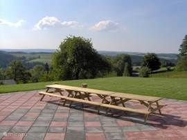 Large terrace on south, with phenomenal views of the Our valley and the Schnee-Eifel.