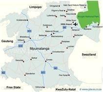 kaart Mpumalanga,Komatipoort.