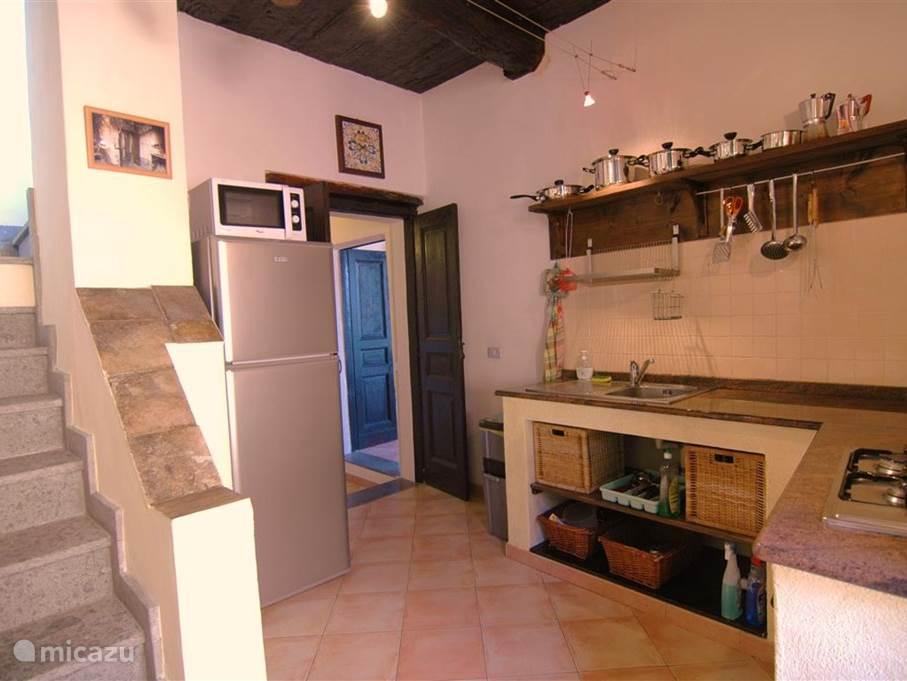 De keuken op de eerste verdieping.
