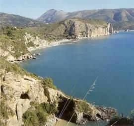 beautiful beaches between cliffs
