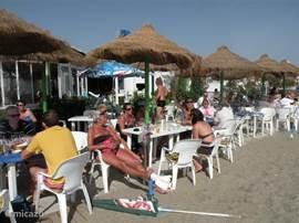 op het strand Mijas Costa