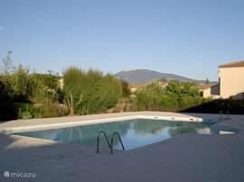 Zwembad met zicht op Mont Ventoux