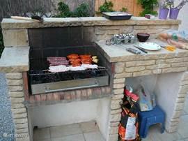 Gemetselde barbecue