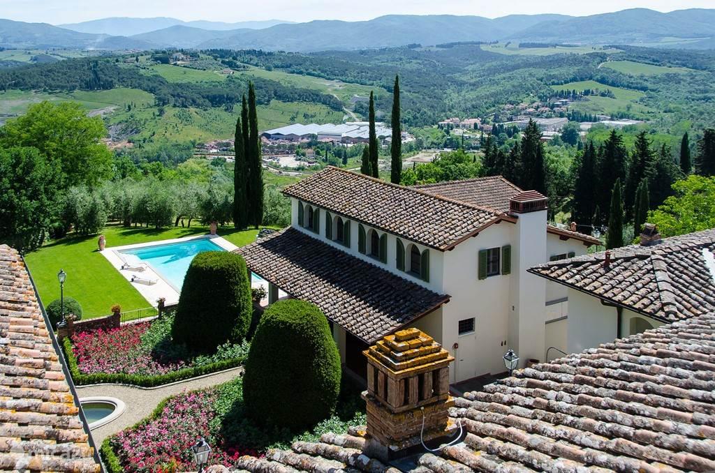 De omringende Toscaanse heuvels