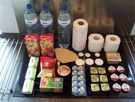 boodschappenpakket bij aankomst