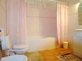 gasten badkamer met ligbad