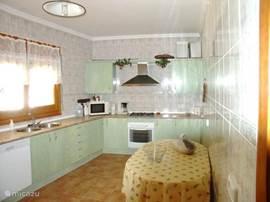 keuken met o.a vaatweasser,magnatron,senseo,dub koelkast,oven etz