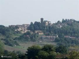zicht op Proceno vanaf Podere-Pantano
