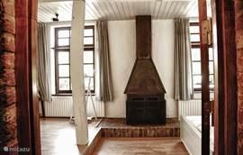 Slaapkamer met kachel
