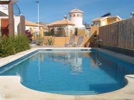 Privezwembad gelegen in de tuin van Villa Casa Rose.