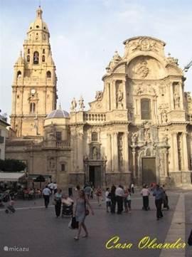 Cathedraal in Murcia (Provincie Hoofdstad) met ruime hoeveelheid winkels.