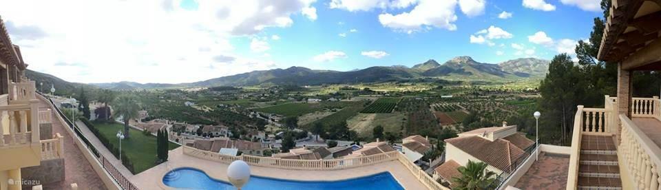 Panorama foto uitzicht terras