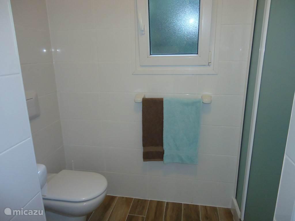Toilet in badkamer en suite bij de masterbedroom