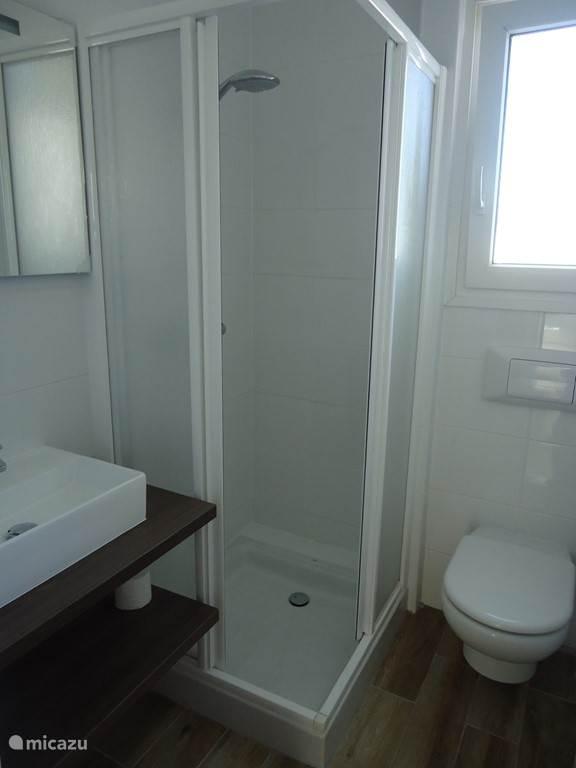 Badkamer 2 met douche, toilet en wastafel