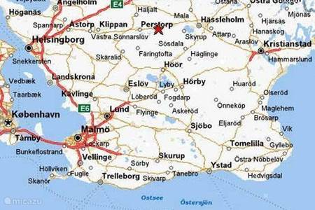 Kaart van Skane