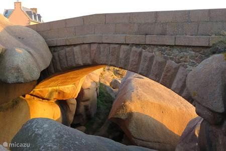 Graniet Rose kust in Bretagne