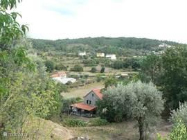 bovenaanzicht huis en omgeving