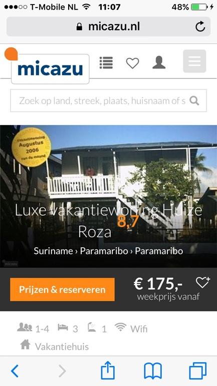 Boek deze mooie vakantie woning nu met 15 euro korting per volle week, voor  periodes langer dan 1 maand krijgt u een hogere korting tot 100 euro pm.