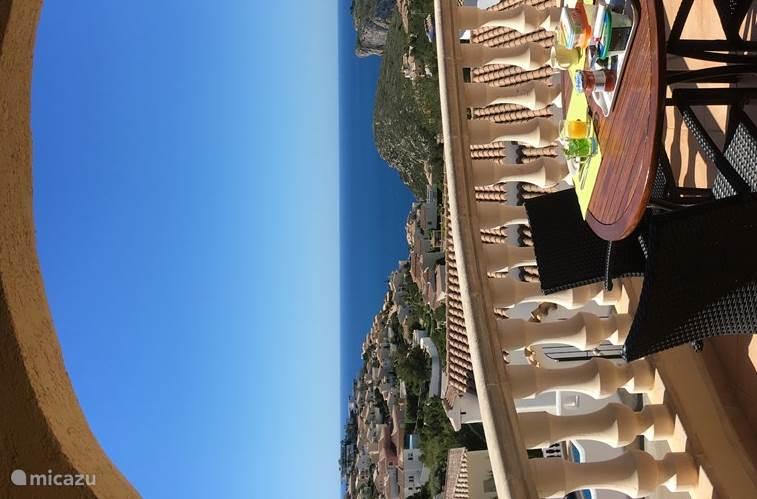 Ontbijtje op het terras met uitzicht op zee !