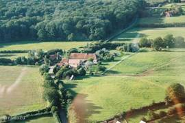 Domaine de Soulisse from the air, bordering on 11,000 ha forest of Tronçais.