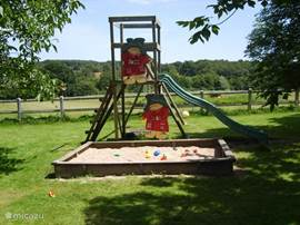 And for the children there are swings, slide and sandpit.