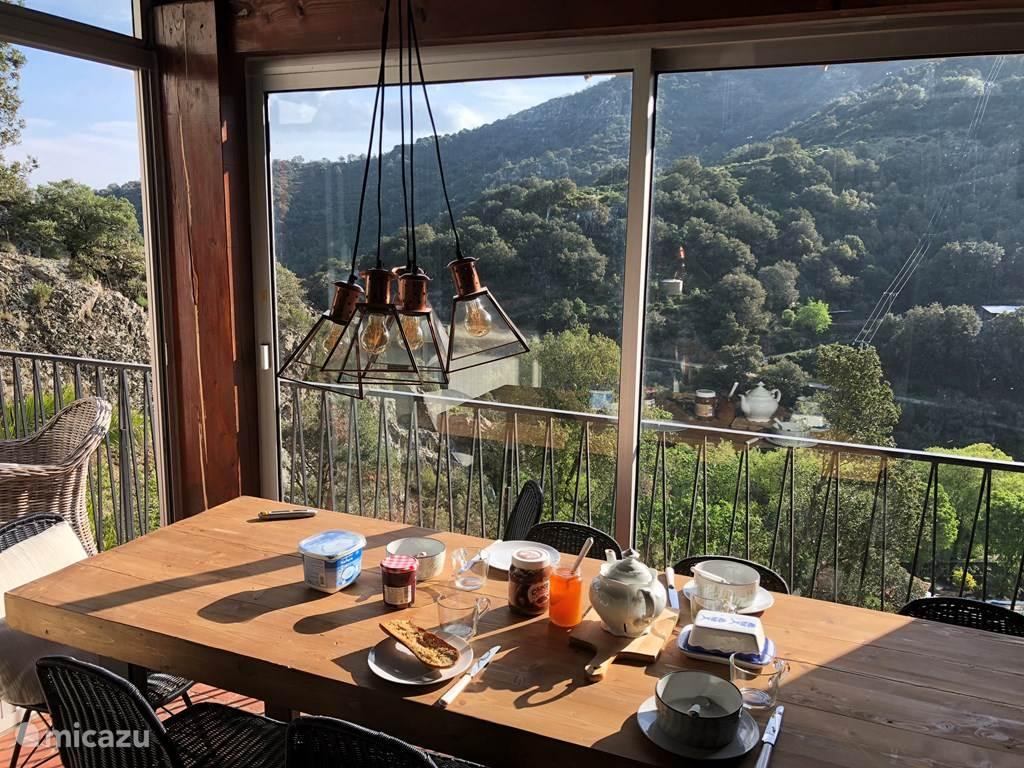 Heerlijk uitzicht tijdens het ontbijt!