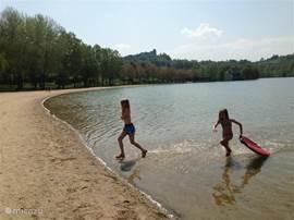 beach at the lake