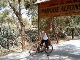 Eigenaar verkent Guardamar per fiets