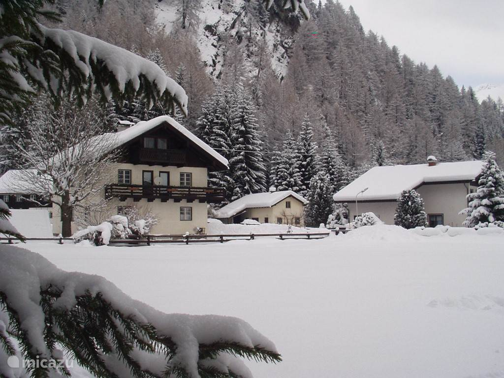 House in winter.