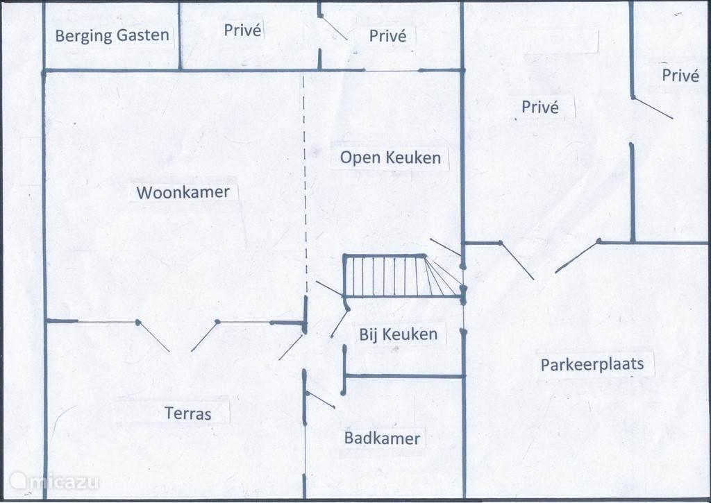Plattegrond benedenverdieping