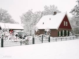 Ook in de winter een schitterend landschap en is het zeer goed vertoeven in deze superluxe recreatiewoning.