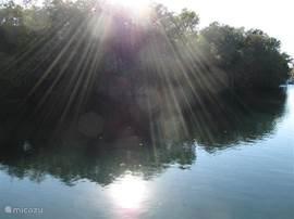 Lake Pierce, op steenworp afstand is prachtig.