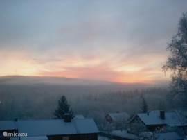 Uitzicht vanaf entree (winter)