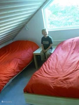Slaapkamer met inbouw kasten...