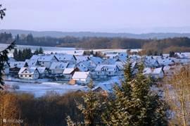 Frankenau in de winter