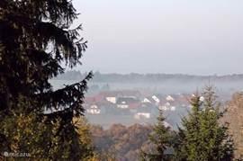 Frankenau in de vroege morgen