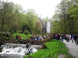 een van de waterwerken in bergpark te Kassel